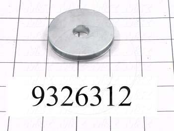 Fabricated Parts, Peel Cable Roller, 2.13 in. Diameter, 0.30 in. Thickness