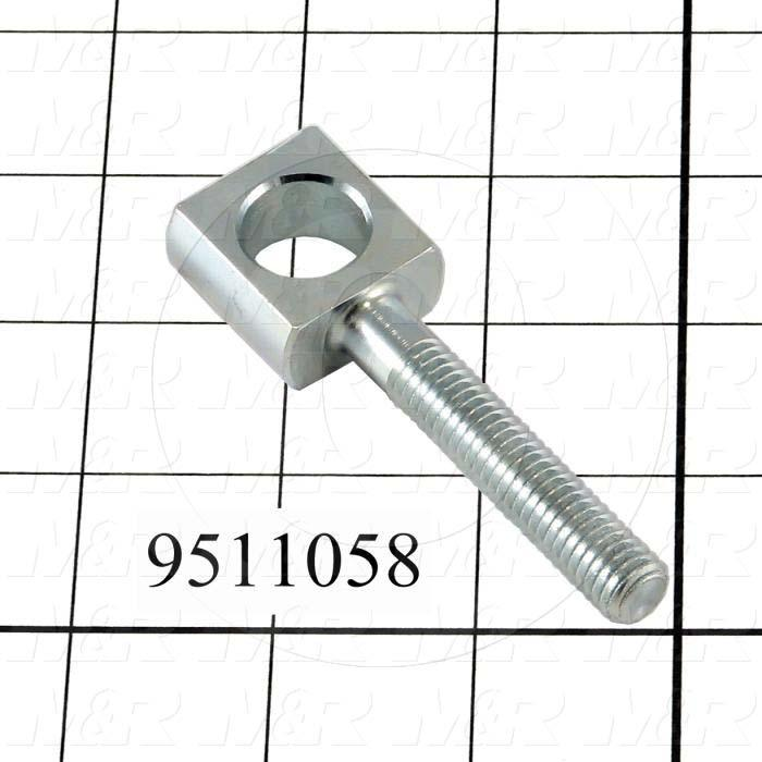 Fabricated Parts, Peel  Eye Bolt, 3.19 in. Length, 1.00 in. Width, 0.50 in. Height, Front Side