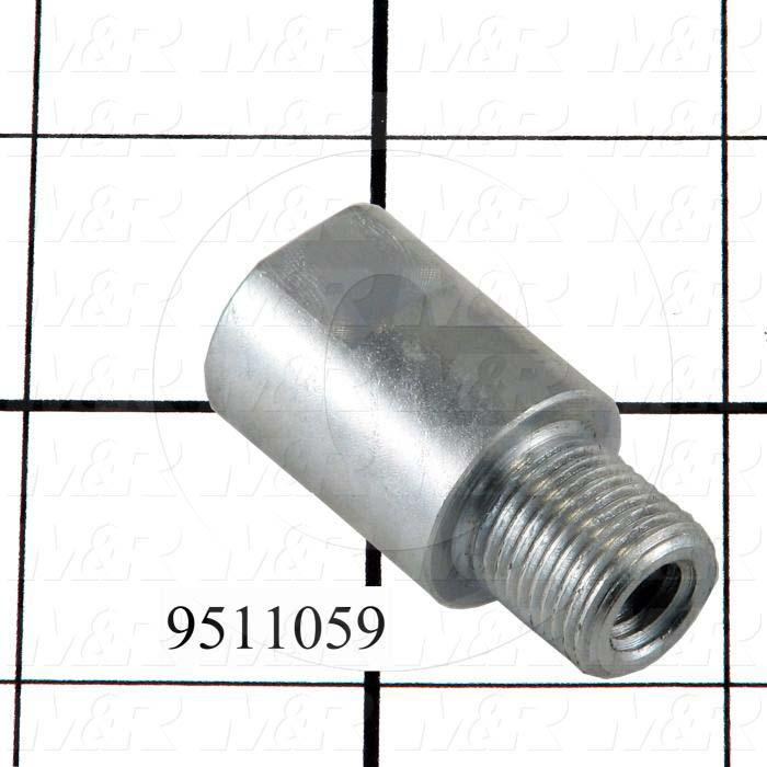 Fabricated Parts, Peel Eye Bolt Nut, 1.75 in. Length, 0.87 in. Diameter