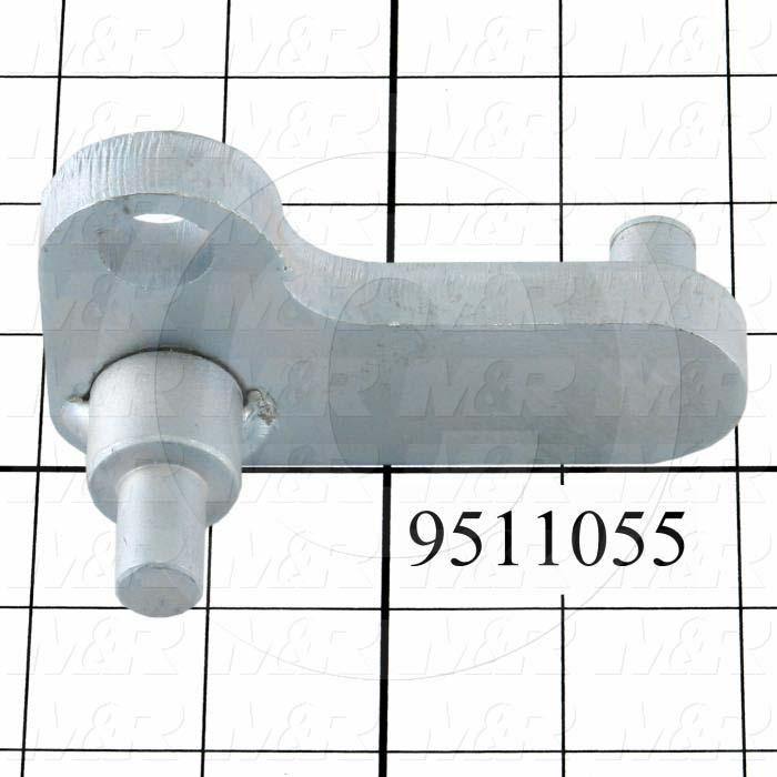 Fabricated Parts, Peel Lever, 3.00 in. Length, 1.75 in. Width, 2.82 in. Height, Front Side