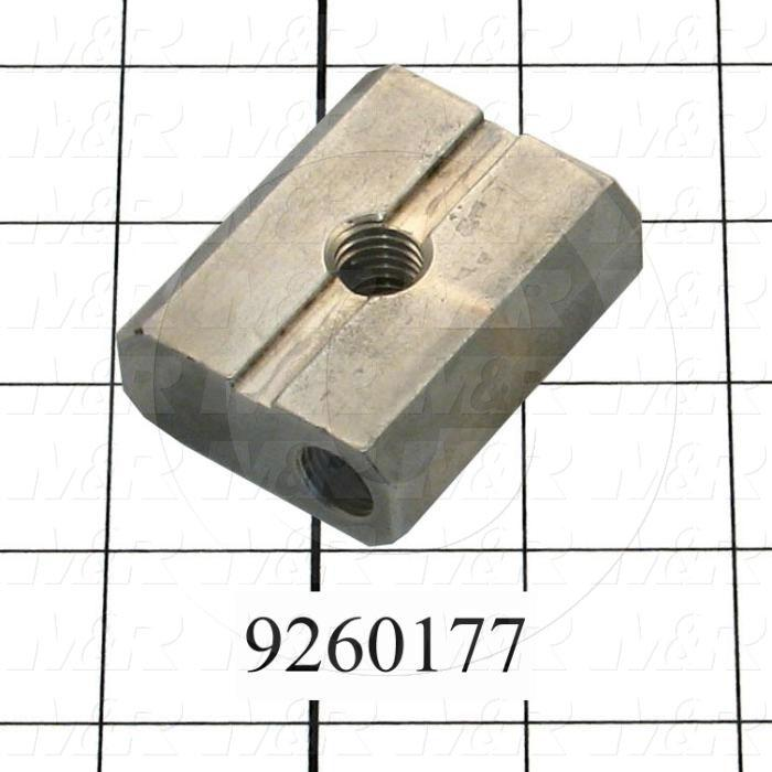 Fabricated Parts, Peel Lever Lock Nut, 2.13 in. Length, 1.75 in. Width, 0.75 in. Height