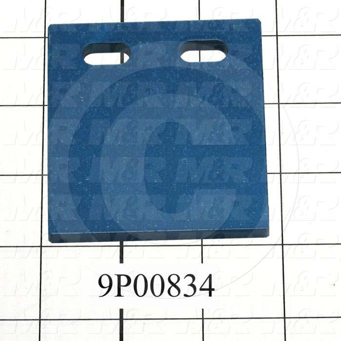 Fabricated Parts, Peel Locator, 3.06 in. Length, 2.75 in. Width, 0.25 in. Thickness, Front