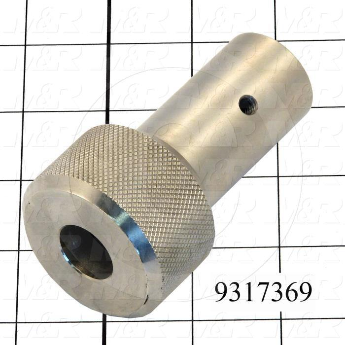 Fabricated Parts, Peel Lock Knob, 3.63 in. Length, 2.00 in. Diameter, OC50001 Nickel Plating Finish