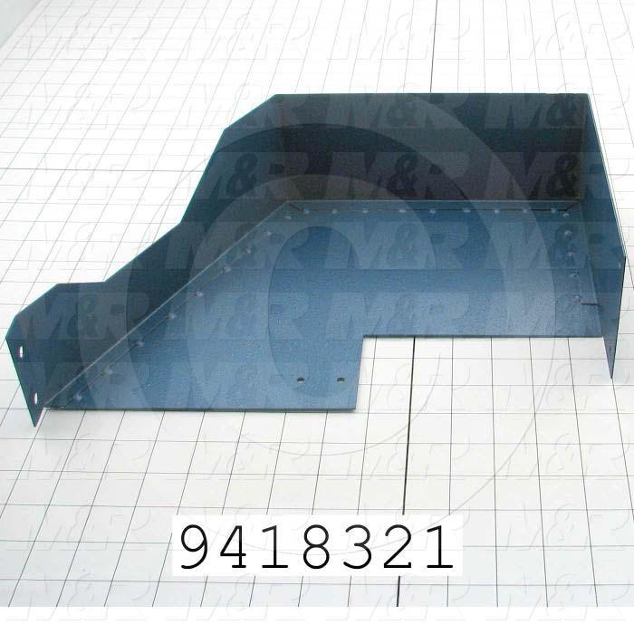 Fabricated Parts, Peel Lower Guard, 14.00 in. Length, 3.75 in. Width, 9.13 in. Height