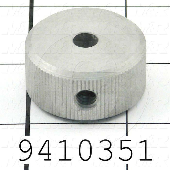 Fabricated Parts, Peel Motor Knob, 1.25 in. Diameter, 0.63 in. Thickness