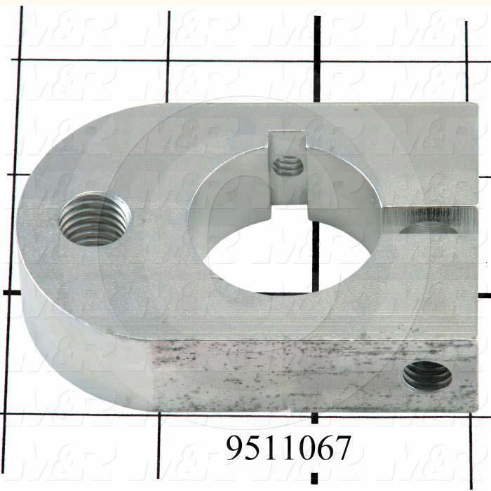 Fabricated Parts, Peel Rear Lever Clamp, 3.00 in. Length, 2.00 in. Width, 0.75 in. Height