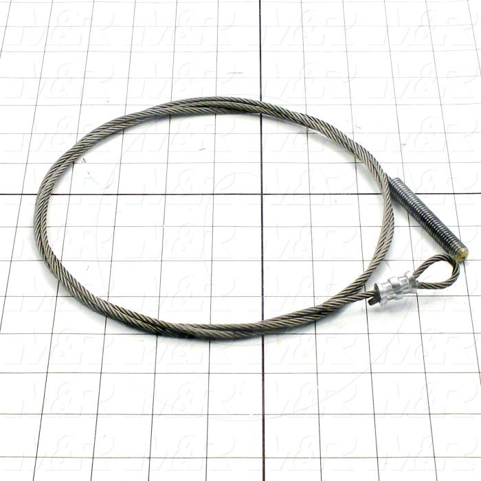 Fabricated Parts, Peel Rope Assembly, 67.50 in. Length