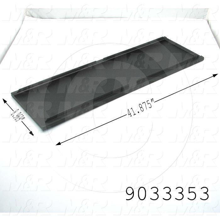 Fabricated Parts, Perforated Panel, 41.88 in. Length, 8.97 in. Width, 1.05 in. Height