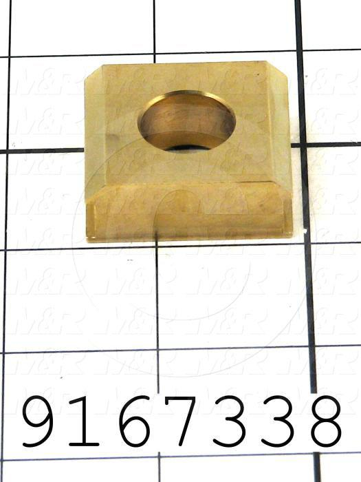 Fabricated Parts, Pin Stabilizer, 1.25 in. Length, 1.38 in. Width, 0.50 in. Thickness