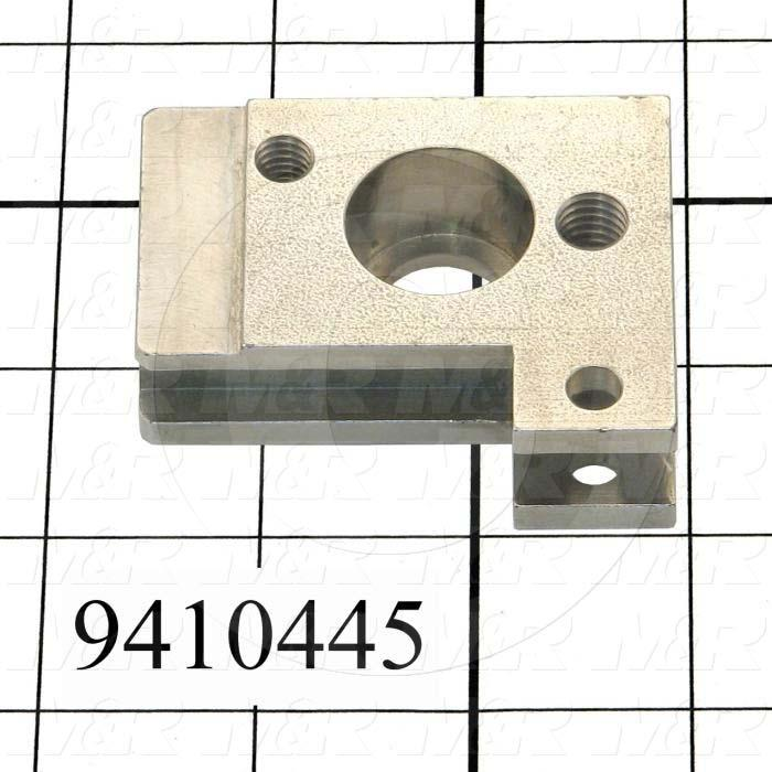 Fabricated Parts, Pivot Block, 2.50 in. Length, 2.00 in. Width, 0.75 in. Height, Right Side
