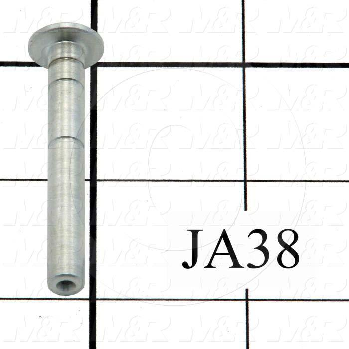 Fabricated Parts, Pivot Pin, 1.94 in. Length, 0.25 in. Diameter, Zinc Finish