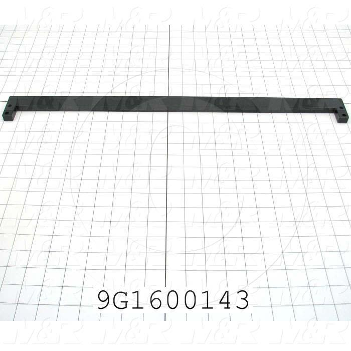 Fabricated Parts, Pivot Roller Center Mount, 23.00 in. Length, 2.00 in. Width, 0.50 in. Height, OC50006 Black Hard Coating Finish