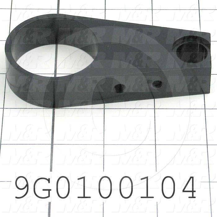 Fabricated Parts, Pivot Roller End Brkt, 4.13 in. Length, 2.00 in. Width, 0.75 in. Thickness, Black Anodizing Finish