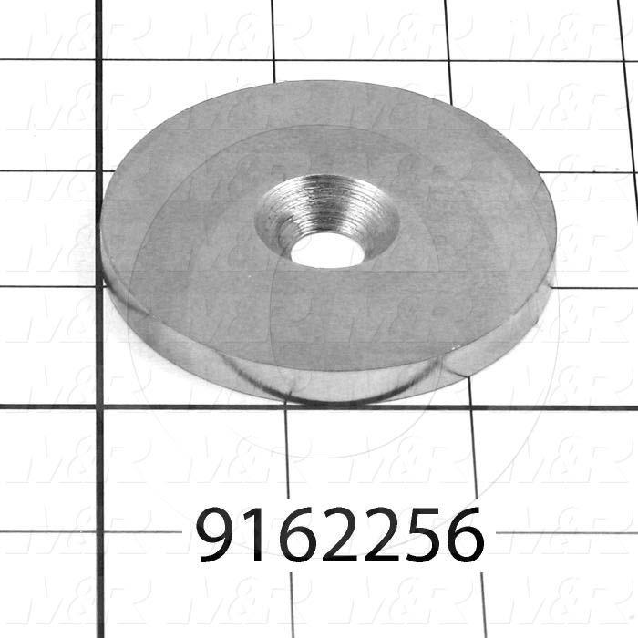 Fabricated Parts, Pivot Shaft Washer, 2.50 in. Diameter, 0.25 in. Thickness