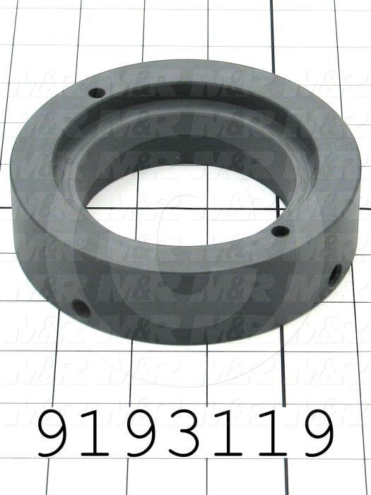 Fabricated Parts, Plastic Bushing, 4.83 in. Diameter, 1.25 in. Thickness