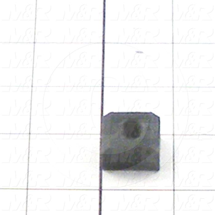 Fabricated Parts, Plastic Nut, 0.75 in. Length, 0.63 in. Width, 0.50 in. Height