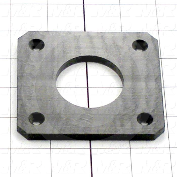 "Fabricated Parts, Plastic Plate 3.75"", 3.75 in. Length, 3.50 in. Width, 0.25 in. Thickness"