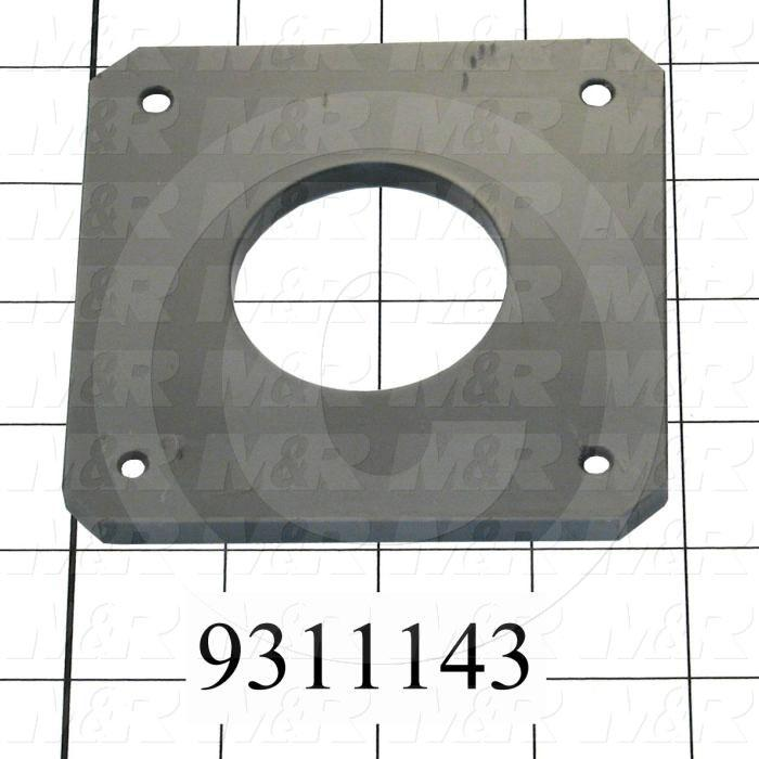 Fabricated Parts, Plastic Slide Plate, 4.00 in. Length, 3.00 in. Width, 0.25 in. Thickness
