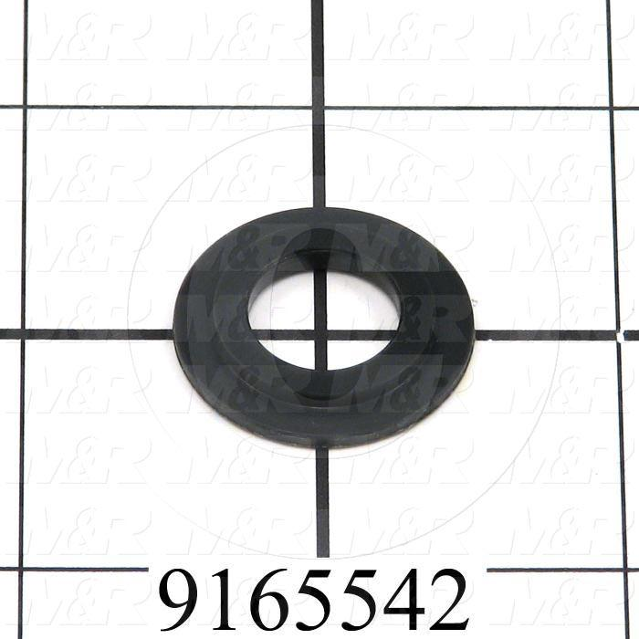 Fabricated Parts, Plastic Washer, 1.00 in. Diameter, 0.13 in. Thickness