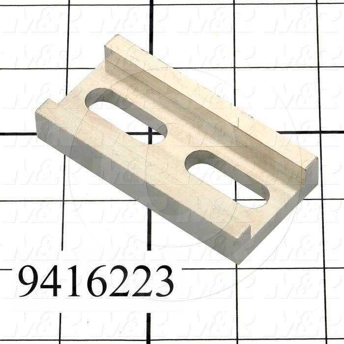 """Fabricated Parts, Plate Connector 3"""", 3.00 in. Length, 1.50 in. Width, 0.50 in. Thickness, Nickel Plated Finish"""