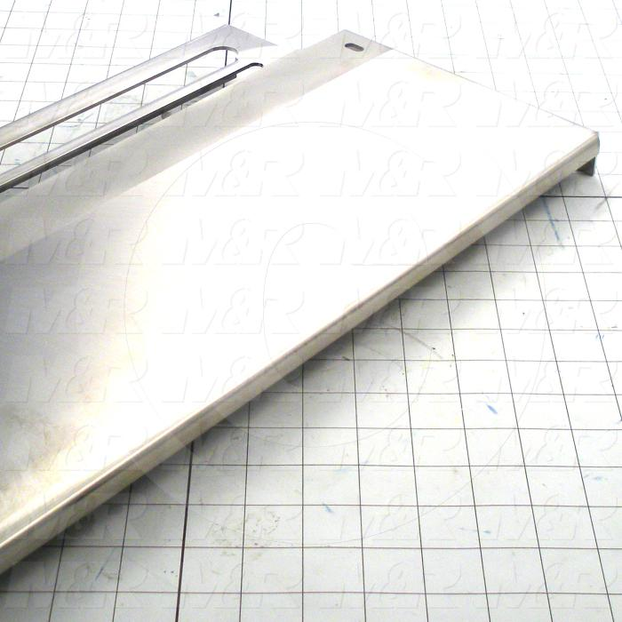 Fabricated Parts, Platform, 26.63 in. Length, 10.35 in. Width, 1.25 in. Height, 12 GA Thickness, Plain Finish