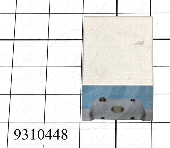 Fabricated Parts, Pneumatic Clamp Extrusion, 2.00 in. Length, 1.52 in. Width, 3.01 in. Height