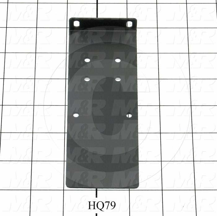 Fabricated Parts, Power Contactor Bracket, 6.00 in. Length, 2.25 in. Width, 0.68 in. Height, 18 GA Thickness, Black Powder Coat Finish