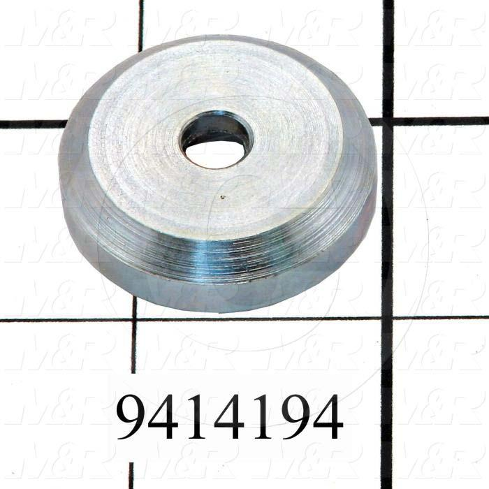 Fabricated Parts, Pressure Cap, 1.25 in. Diameter, 0.31 in. Thickness