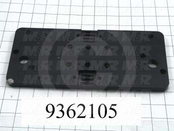 Fabricated Parts, Print Carriage Plate, 7.63 in. Length, 5.00 in. Width, 0.50 in. Height