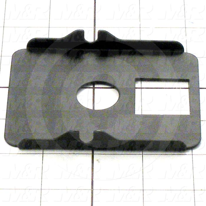 Fabricated Parts, Print Head Cover, 3.14 in. Length, 4.00 in. Width, 0.56 in. Height, 18 GA Thickness, Black Painted Finish