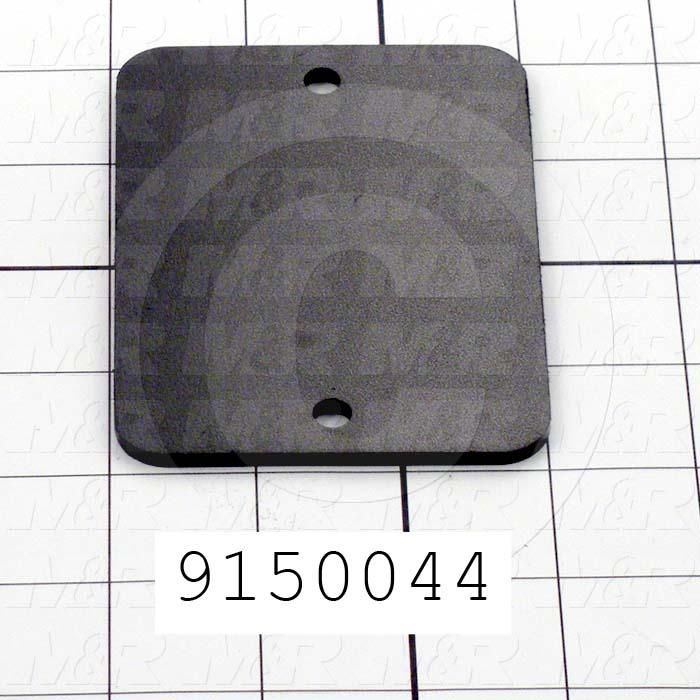 Fabricated Parts, Print Head Front Cover, 4.00 in. Length, 3.00 in. Width, 0.13 in. Thickness