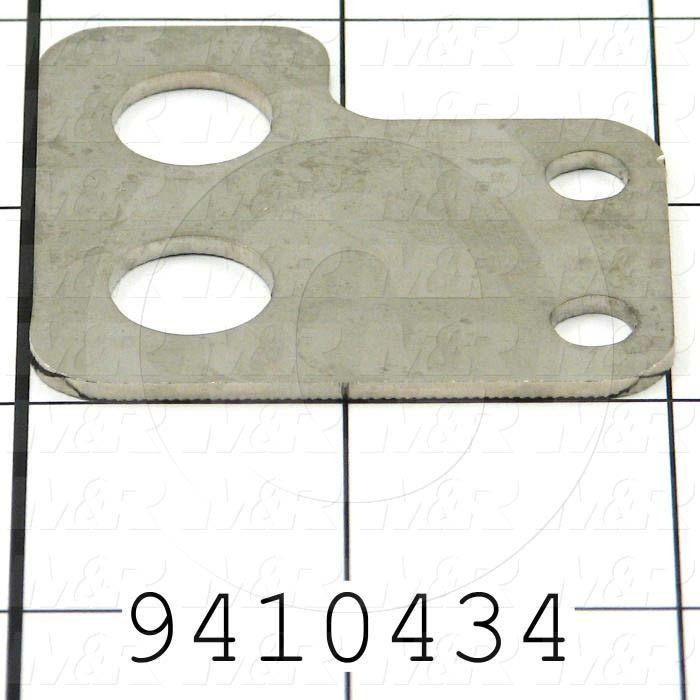 Fabricated Parts, Prox. Holder Brkt. E, 2.00 in. Length, 1.88 in. Width, 14 GA Thickness, Nickel Plated Finish
