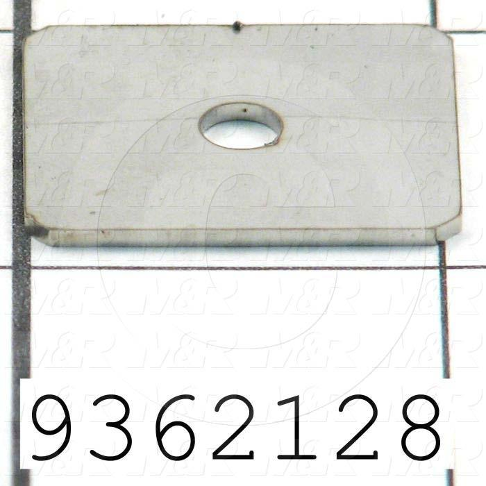 Fabricated Parts, Prox Slide End Plate, 1.05 in. Length, 0.88 in. Width, 18 GA Thickness