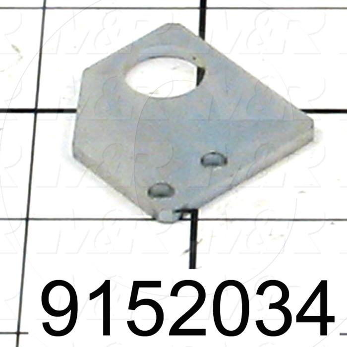 Fabricated Parts, Proximity Mounting Bracket, 1.25 in. Length, 1.38 in. Width, 12 GA Thickness