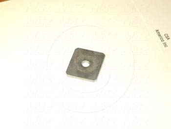 Fabricated Parts, Proximity Slide End Plate, 0.88 in. Length, 0.75 in. Width, 18 GA Thickness