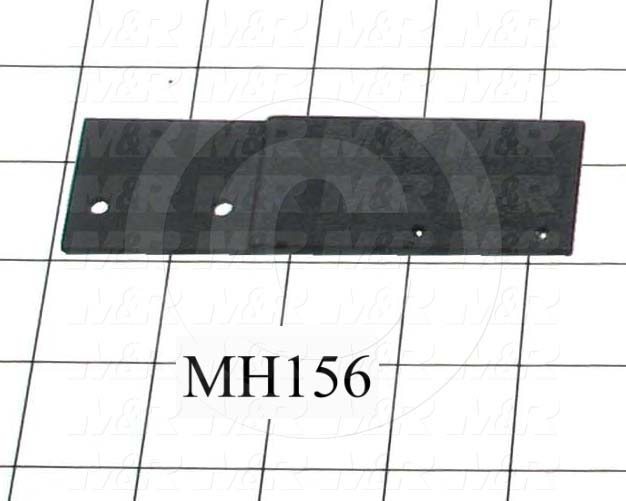 Fabricated Parts, Proximity Switch Adaptor, 4.12 in. Length, 1.25 in. Width, 14 GA Thickness, Black Finish