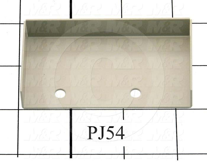 Fabricated Parts, Proximity Switch Cover, 3.30 in. Length, 1.75 in. Width, 0.56 in. Height, Warm Gray #3 Finish