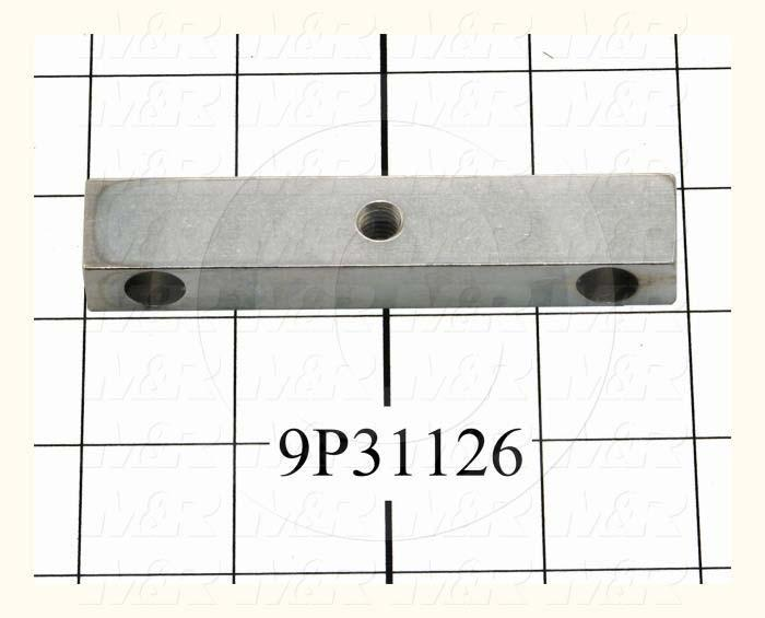"Fabricated Parts, Pusher Block 3.94""Lg, 3.94 in. Length, 0.75 in. Width, 0.50 in. Thickness, Chrome-Plated Finish"