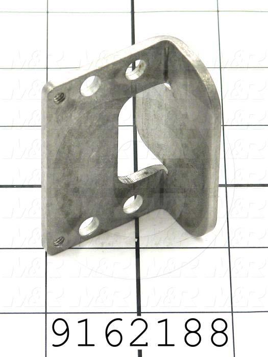 "Fabricated Parts, Rear Bumper Brkt 2.5""Lg., 2.50 in. Length, 1.63 in. Width, 1.46 in. Height, 10 GA Thickness"