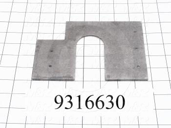 Fabricated Parts, Rear Chain Cover, 6.75 in. Length, 5.00 in. Width, 12 GA Thickness