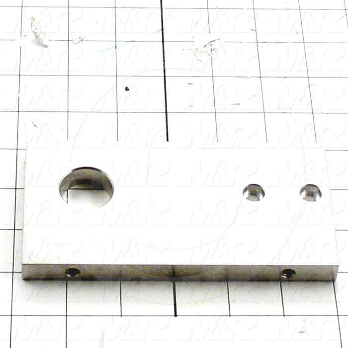 Fabricated Parts, Rear End Plate, 5.88 in. Length, 3.00 in. Width, 0.50 in. Thickness