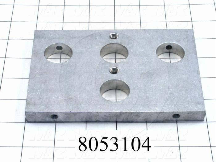 Fabricated Parts, Rear End Plate, 5.88 in. Length, 4.00 in. Width, 0.50 in. Thickness