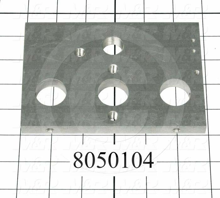 Fabricated Parts, Rear End Plate, 5.88 in. Length, 4.00 in. Width
