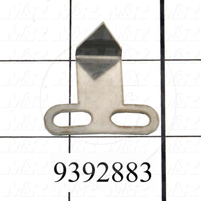 Fabricated Parts, Rear Micro Arrow, 1.25 in. Length, 1.06 in. Width, 0.56 in. Height, 20 GA Thickness