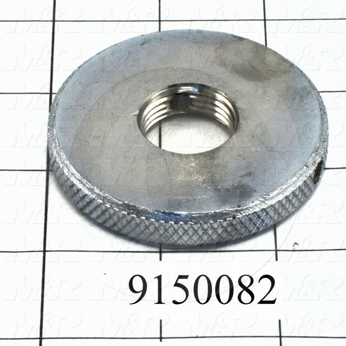 Fabricated Parts, Rear Micro Lock Nut, 2.50 in. Diameter, 0.38 in. Thickness