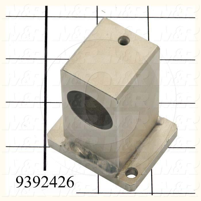 Fabricated Parts, Rear Micro Weld, 3.00 in. Length, 2.00 in. Width, 1.63 in. Height, Nickel Plated Finish