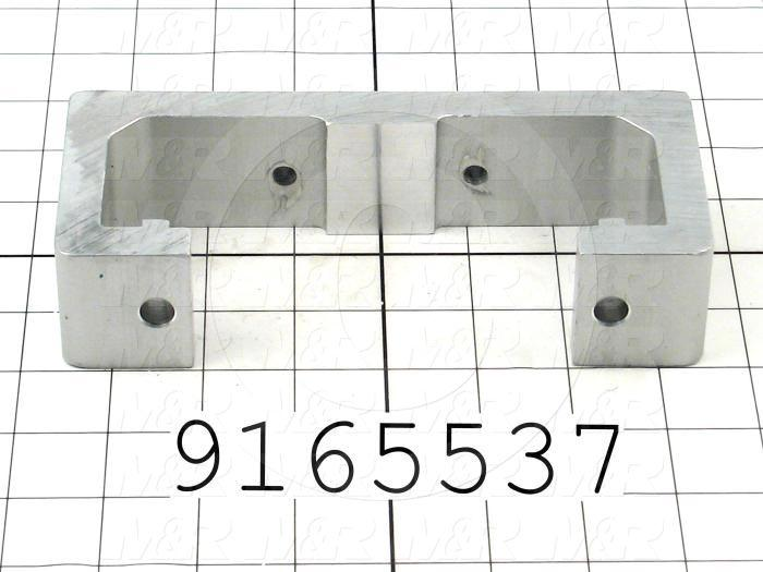Fabricated Parts, Rear Screen Hold Bracket, 7.06 in. Length, 3.00 in. Width, 1.61 in. Height