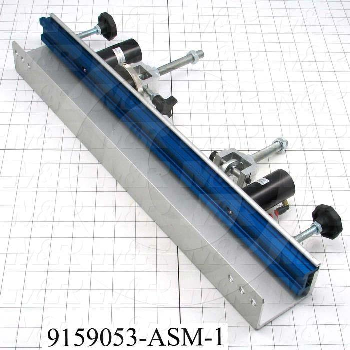 Fabricated Parts, Rear Screen Holder Assembly, 23.00 in. Length, 0.42 in. Width, 8.00 in. Height