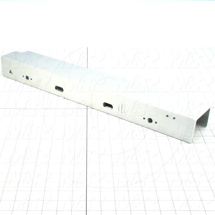 Fabricated Parts, Rear Screen Holder With Micro, 23.00 in. Length, 2.38 in. Width, 3.35 in. Height
