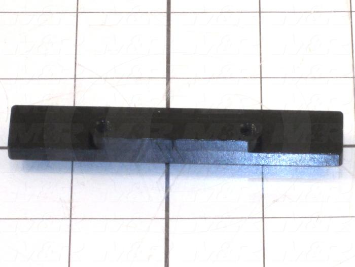 Fabricated Parts, Rear Stop, 3.50 in. Length, 0.63 in. Width, 0.37 in. Thickness, OC50000 Black Anodizing Finish